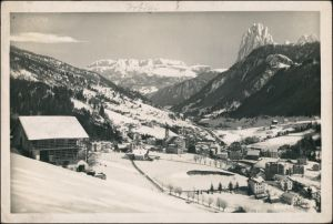 St. Ulrich in Gröden Ortisei Haus und Stadt im Schnee - Winter 1939