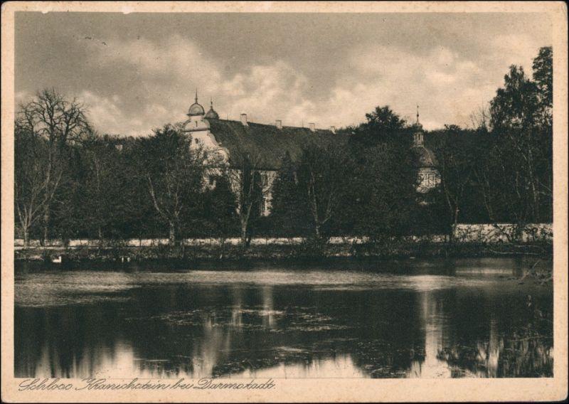 Ansichtskarte Kranichstein-Darmstadt Schloß 1928