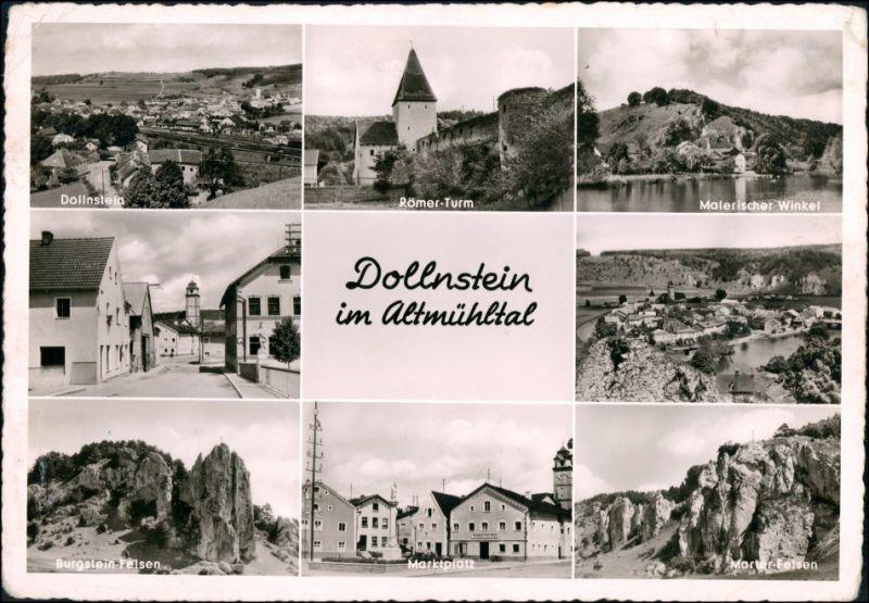 Ansichtskarte Dollnstein Stadtansichten, Straße 1957