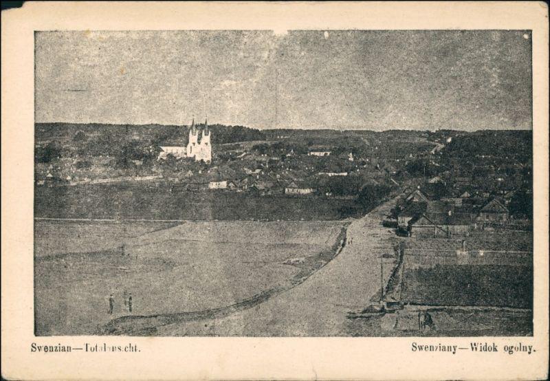 Postcard Swenzian Święciany Weg zur Stadt gel. Feldpost 1916
