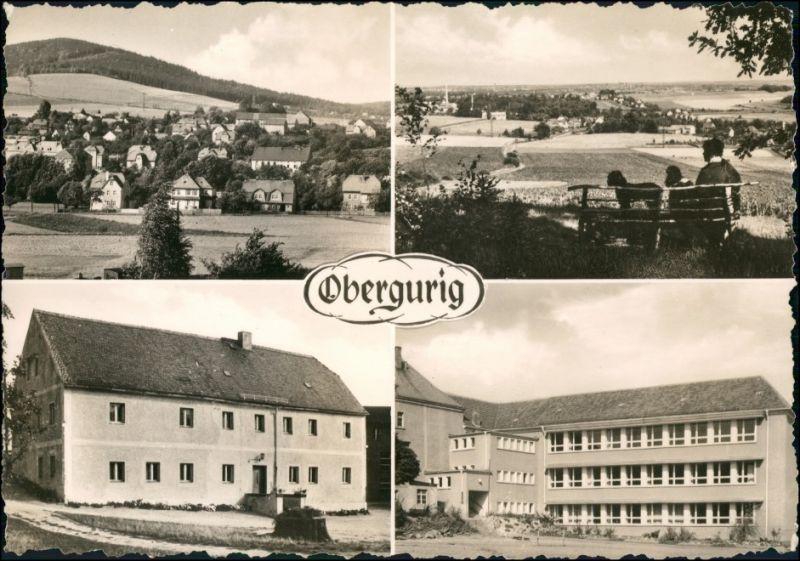 Ansichtskarte Obergurig 4 Bild: Totale, Häuser 1968