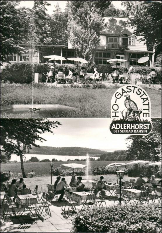 Ansichtskarte Bansin-Heringsdorf Usedom 2 Bild HO Gaststätte Adlershorst 1974