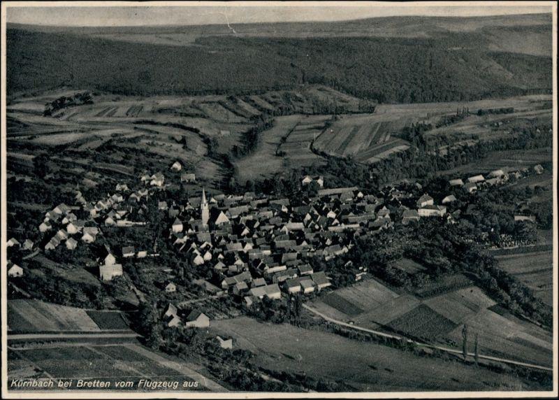 Ansichtskarte Kürnbach bei Bretten Luftbild 1937