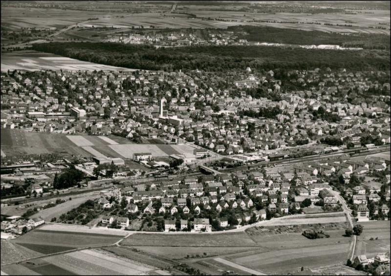 Ansichtskarte Korntal-Münchingen Luftbild 1963
