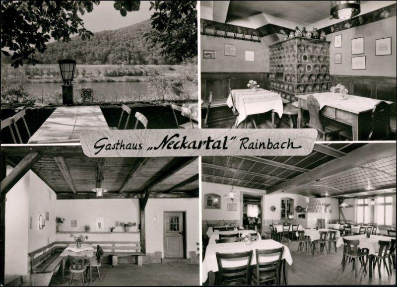 Ansichtskarte Rainbach-Neckargemünd 4 Bild: Gasthaus innen und außen 1963