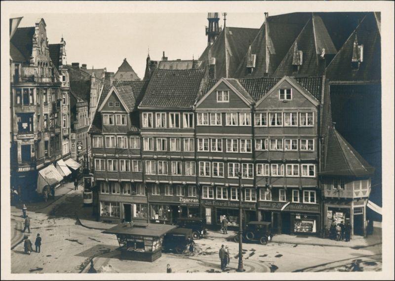 Ansichtskarte Kiel Persianische Häuser am Markt 1932