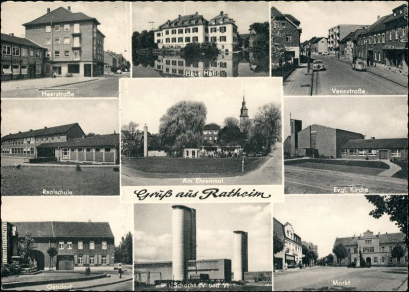 Ratheim-Hückelhoven Vennstraße, Heerstraße, Gendorf, Schacht IV VI 1966
