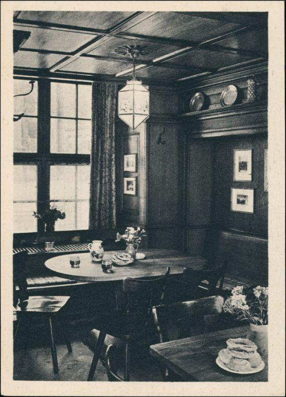 Ansichtskarte Freiburg im Breisgau Münsterplatz, Oberkirchs Weinstube 1928