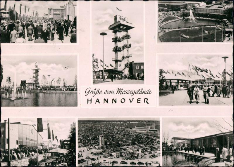 Ansichtskarte Hannover Messegelände, Messe-Ansichten 1959