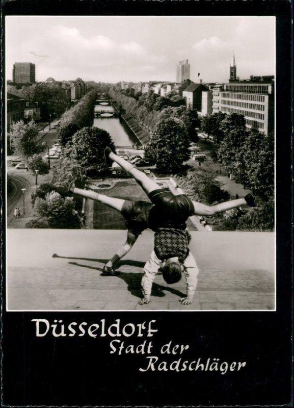 Ansichtskarte Düsseldorf Königsallee - Radschläger 1962