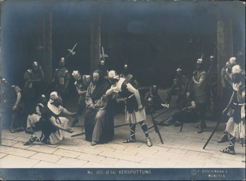 Ansichtskarte Oberammergau Passionsspiele Jesu Verspottung 1910