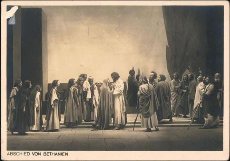 Ansichtskarte Oberammergau Passionsspiele Abschied von Bethanien 1934