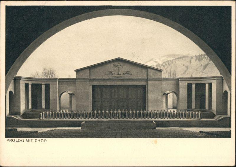 Ansichtskarte Oberammergau Passionsspiele Prolog mit Chor 1950
