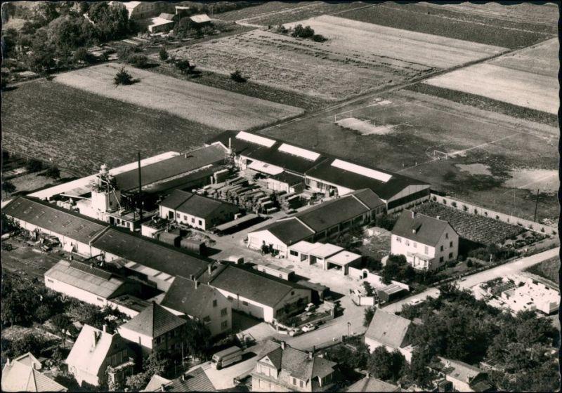 Ansichtskarte Worms Luftbild Heinrich Schärf & Sohn Fabrik 1962