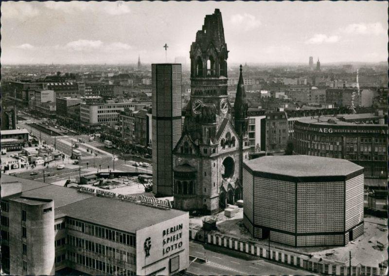 Charlottenburg-Berlin Kurfürstendamm Kaiser-Wilhelm-Gedächtniskirche 1955
