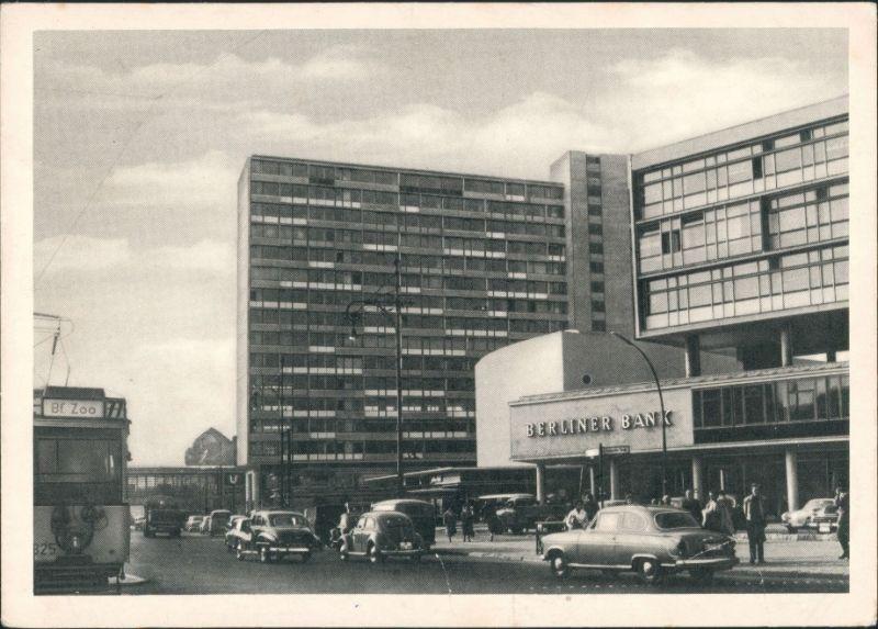 Charlottenburg-Berlin Budapesterstraße ASuto Straßenbahn Berliner Bank 1968