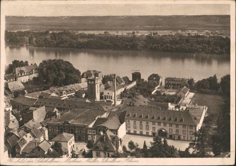 Ansichtskarte Eltville am Rhein Luftbild Sektkellerei 1932