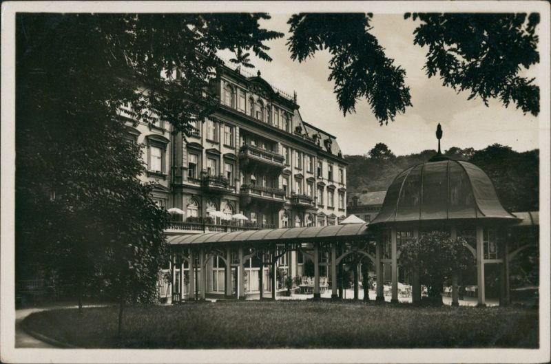 Teplitz-Schönau Teplice TEPLICE-SANOV Lázeňský dům, Kurhaus, Postcard 1940