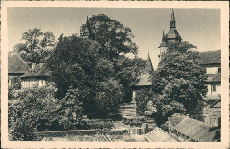 Teplitz-Schönau Teplice Schloss Schlossgarten Castle Parc Postcard 1930