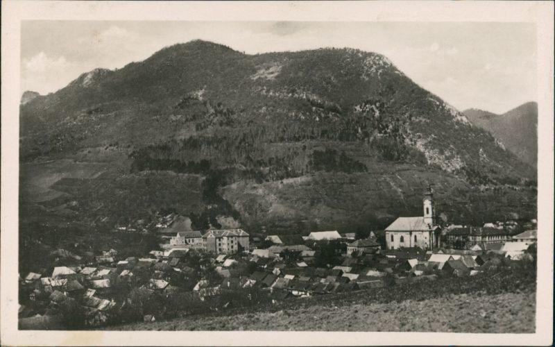 Postcard Theißholz Tisovec Panorama Gesamtansicht des Dorfes 1955
