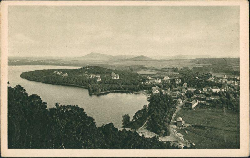 Thammühl-Hirschberg am See Staré Splavy Doksy Panorama-Ansicht Dorf  1930/1929