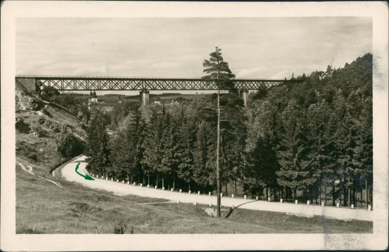 Postcard Trebitsch Třebíč Panorama Blick zur Brücke 1951   AK gelaufen
