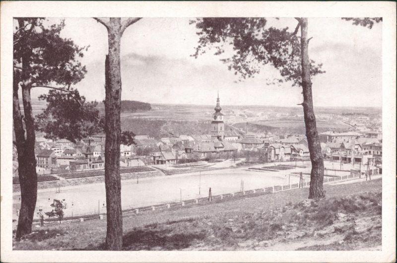 Trebitsch Třebíč Panorama-Gesamtansicht, Totalansicht d. Ortes 1950