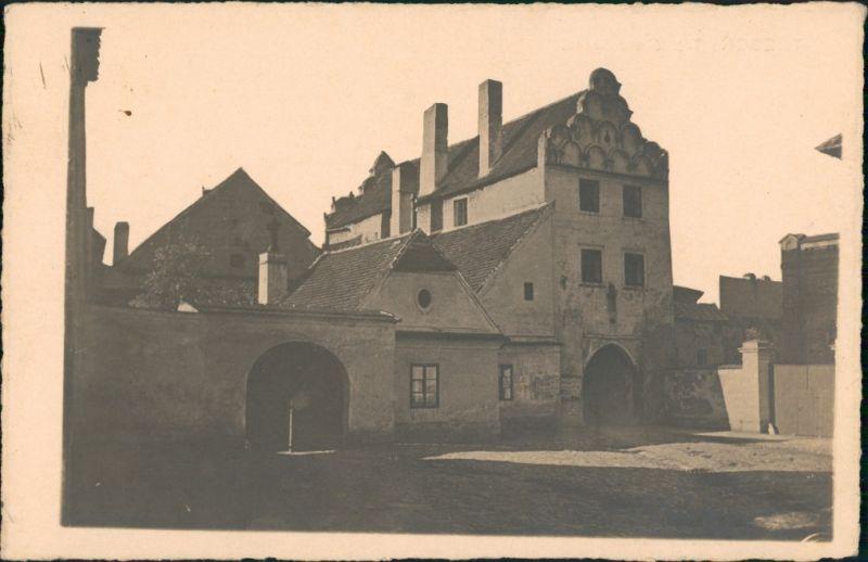 Třeboň TŘEBOŇ Troníčkova brána/Schloss ähnliches Gebäude, Echtfoto PK 1932
