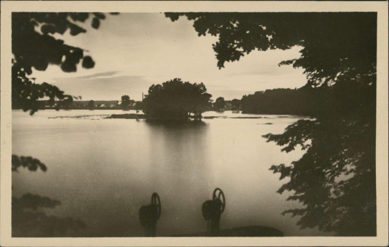 Postcard Třeboň Třeboň - Rybnik Svět/Partie am See 1952