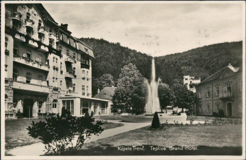 Teplitz-Schönau Teplice Kupele Trenc, GRAND HOTEL, Wasserspiele 1932