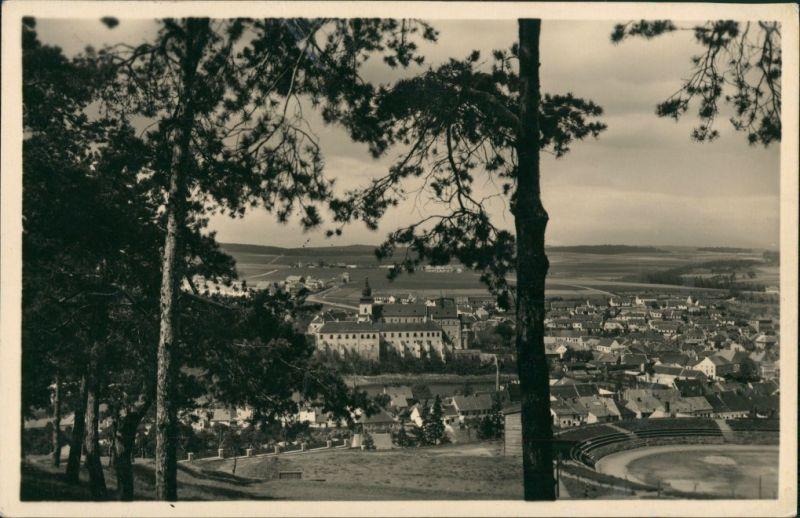 Trebitsch Třebíč Panorama-Ansicht Vogelschau-Perspektive 1937   TREBIC