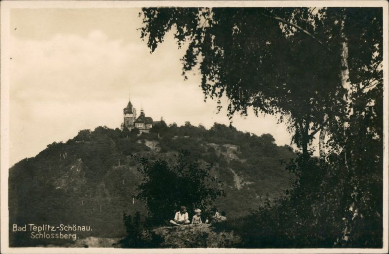 Teplitz-Schönau Teplice Schloss Schlossberg Castle Real-Photo-Postcard 1930