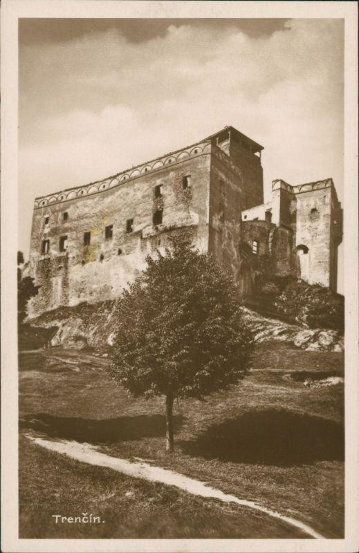 Trentschin Trenčín | Trencsén | Laugaricio Burg Ansicht Castle Vintage PC 1925