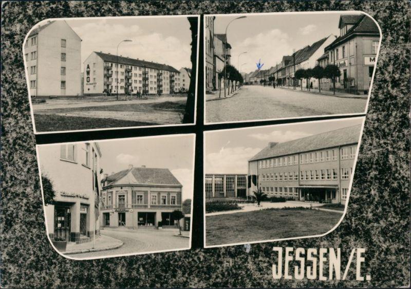 Ansichtskarte Jessen Straßen, Neubauten - 4 Bild 1964