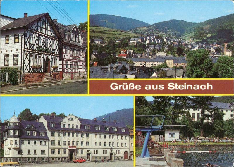 Ansichtskarte Steinach (Thüringen) Stadtteilansichten: Kirchstraße 1989