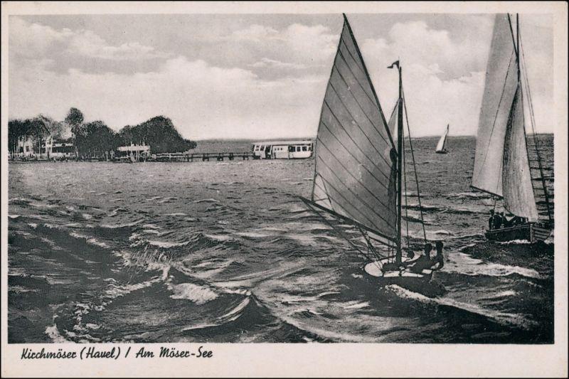 Kirchmöser-Brandenburg an der Havel Am Möser See - Segelboote 1952