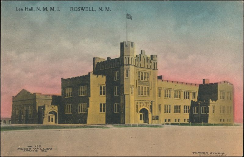 Postcard Roswell (New Mexico) Lea Hall N.M.M.I. 1914