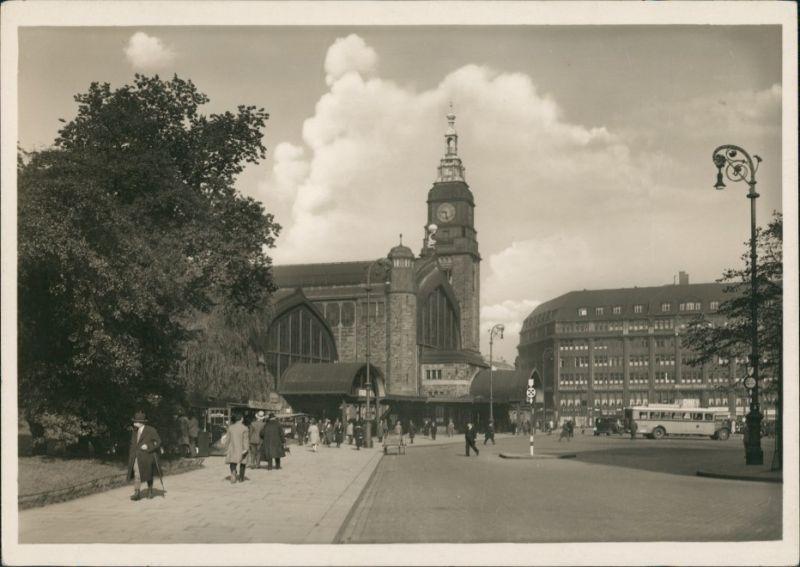 Ansichtskarte Hamburg Hauptbahnhof, Hachmannplatz 1935