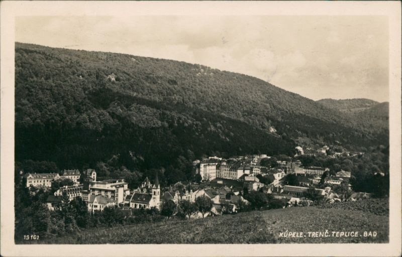 Teplitz-Schönau Teplice Trenc Teplice Bad Panorama Totalansicht 1933