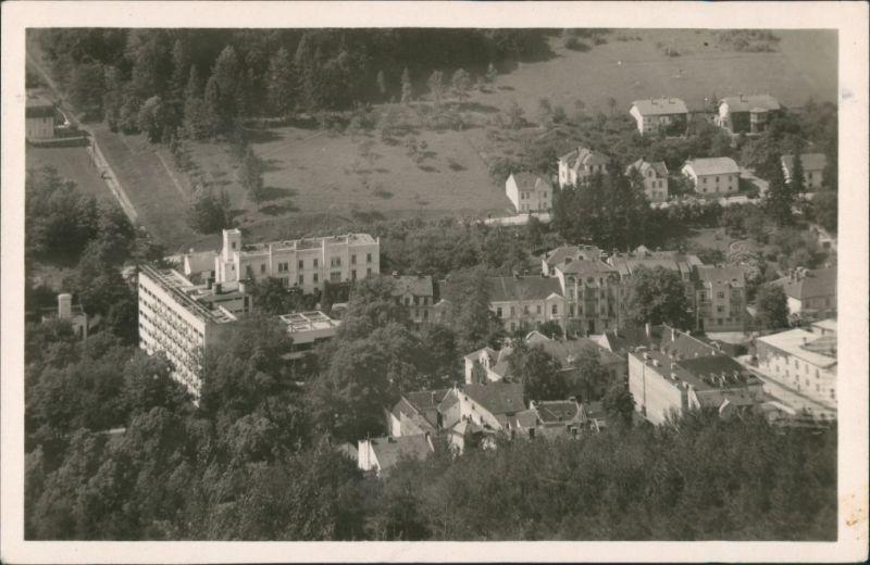 Trentschin-Teplitz Trenčianske Teplice Trencsénteplic Teilansicht  1949