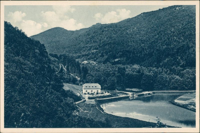 Teplitz-Schönau Teplice Kúpele Trenč Teplice Údolní přehrada/Talsperre   1930