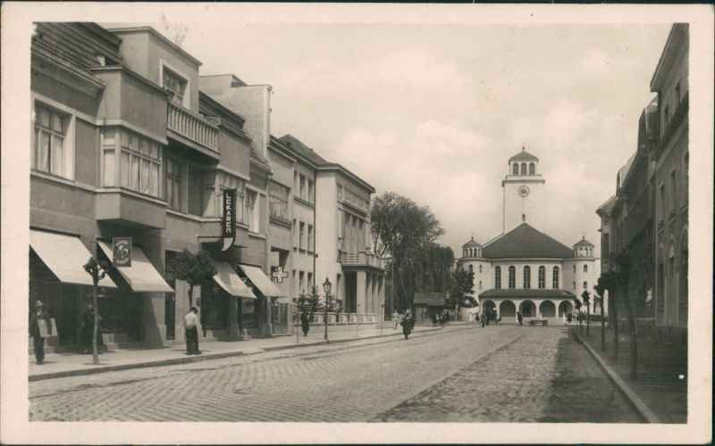 Tyrnau Trnava (Nagyszombat) Trnava - Emmerova ulica/Strassen  Geschäfte 1947
