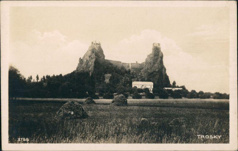 Rowensko bei Turnau Rovensko pod Troskami Hrad Burg Ruine Trosky 1928