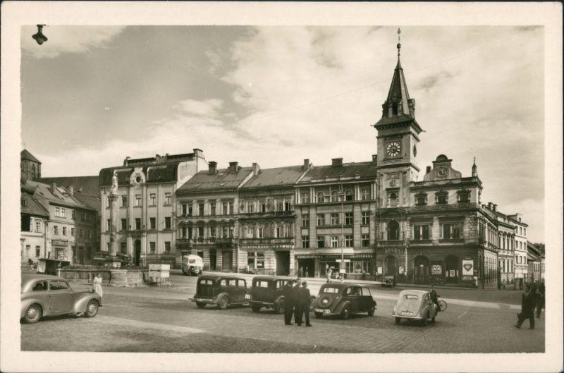 Turnau Turnov TURNOV - Masarykovo náměstí/Teilansicht Parkplatz 1955