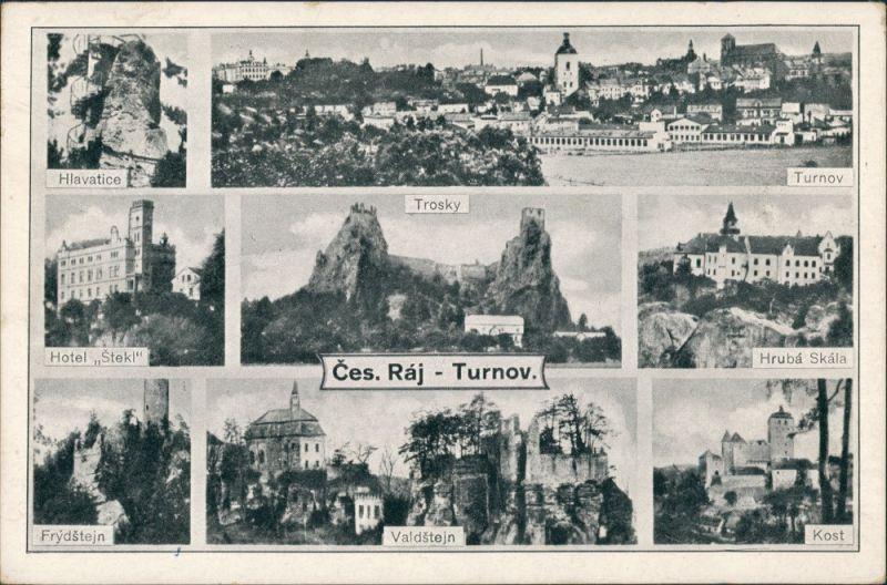 Turnau Turnov Mehrbild-AK Multi-View Postcard (8 Foto-Ansichten) 1949