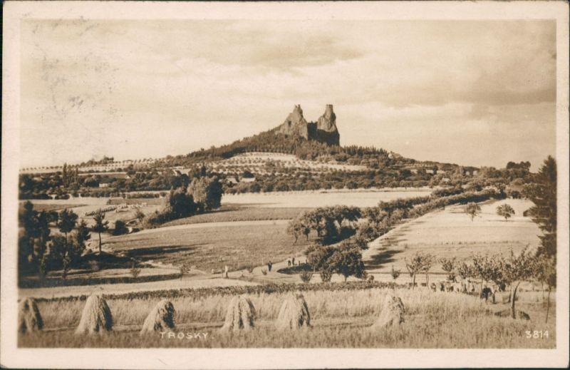 Rowensko bei Turnau Rovensko pod Troskami Hrad Burg Ruine Trosky   1924