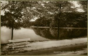Ansichtskarte Bad Malente-Gremsmühlen-Malente Am Dieksee - Parkbank 1923