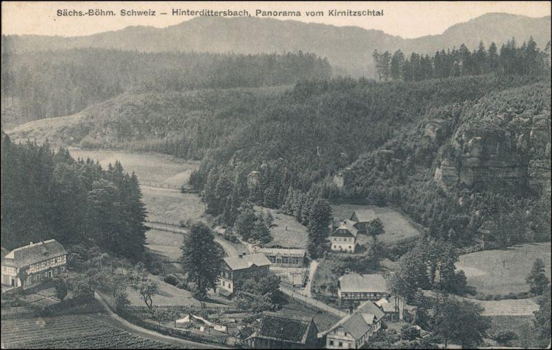 Hinterdittersbach-Dittersbach   Zadní Jetřichovice Jetřichovice Ortspartie 1924