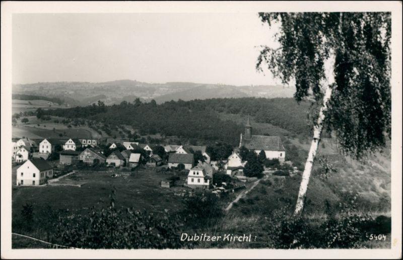 Postcard Salesel Dolní Zálezly Dubitzer Kirchlein - Stadtpartie 1930