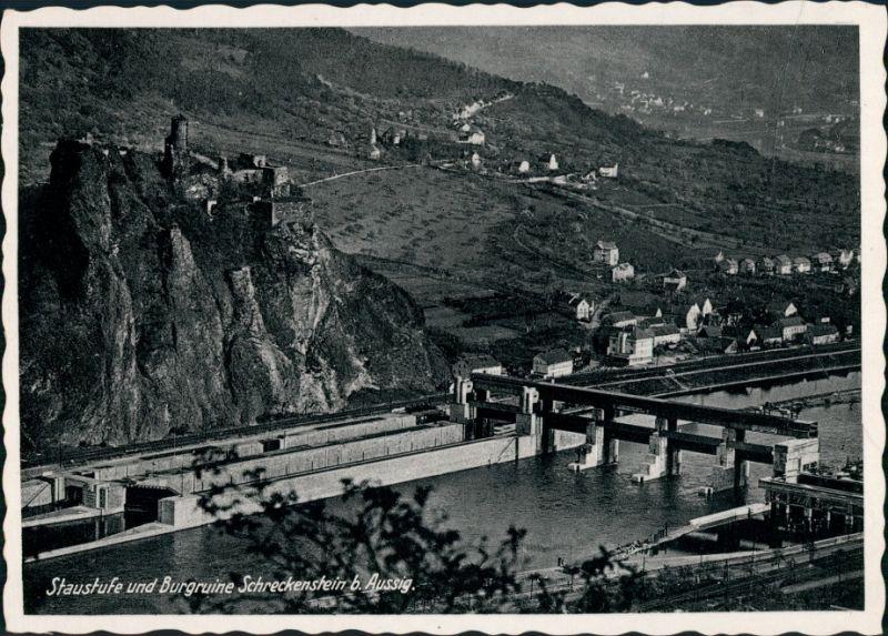 Schreckenstein (Elbe)-Aussig Střekov (Laben) Ústí nad Labem   Staustufe 1934